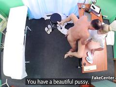 Гинеколог трахает свою медсестру в кабинете