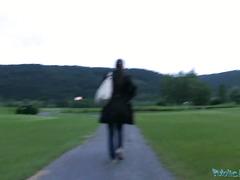 Страстный перепихон с незнакомкой в красивом парке